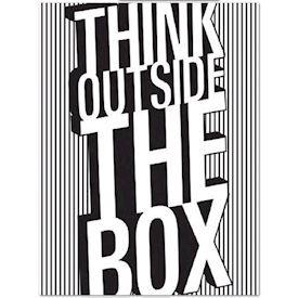 Plakat Think outside the box
