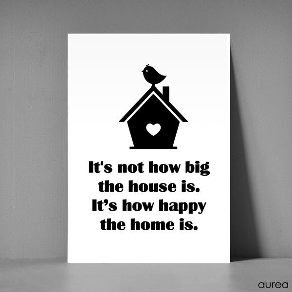 Postkort  A5 -It\'s not how big the house is