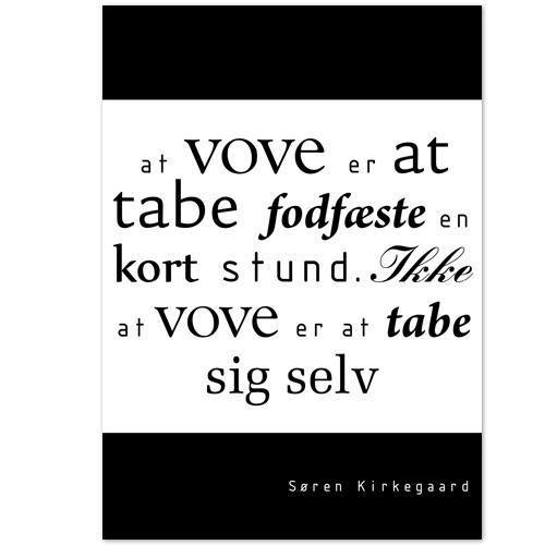 citater kierkegaard Citat Plakat   Kierkegaard citater kierkegaard