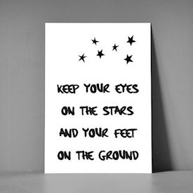 Postkort A5 - Keep your eyes on the stars