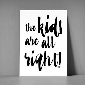 Postkort A5 - The kids are all right