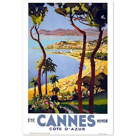 Retroplakat Cannes