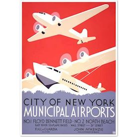 Retroplakat New York Airport