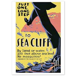 Retroplakat Sea Cliff