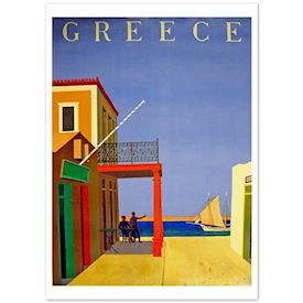 Retroplakat Seaside Greece