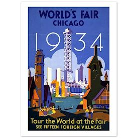 Retroplakat World fair, Chicago