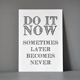Postkort A5 - Do it Now